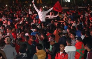 Moroccans celebrate Atlas Lions' qualification to 2018 FIFA World Cup, Football