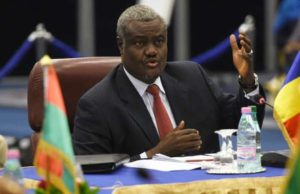 Moussa Faki, the chairman of the African Union Commission
