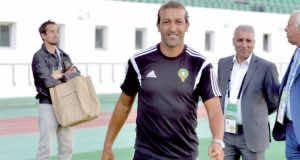 Mustapha Hadji, the Moroccan football team's assistant coach and former international footballer