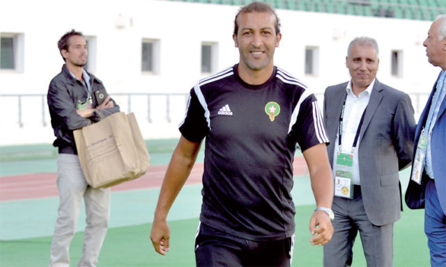 Mustapha Hadji, the Moroccan football team's assistant coach and former international footballer