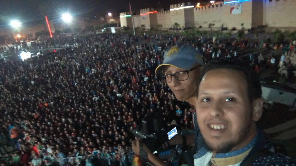 Taroudant celebrating Morocco's qualification to world Cup 2