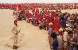 The Green March in Western Sahara of Morocco,