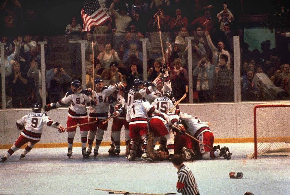 United States' Hockey team during the Winter Olympic Games in 1980
