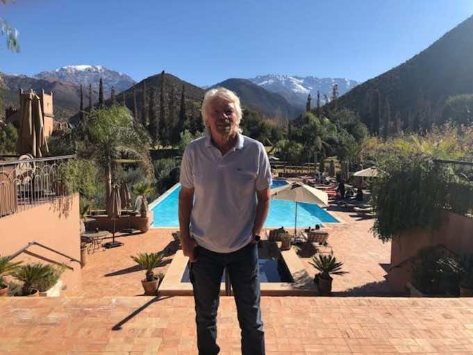 Richard Branson's Moroccan Holiday at Kasbah Tamadot in Atlas Mountains