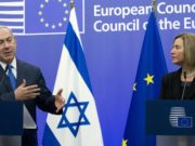 Israeli Prime Minister Benjamin Netanyahu and the European Union High Representative Federica Mogherini