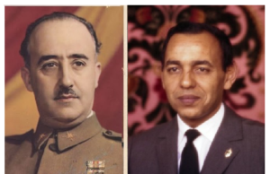 King Hassan II of Morocco and Franssisco Franco of Spain