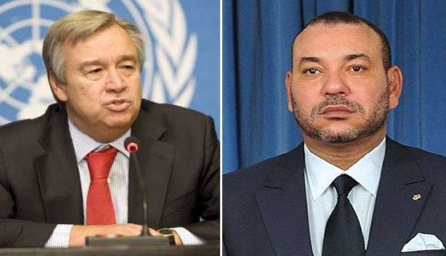 King Mohammed VI and the United Nations Secretary General, Antonio Guterres