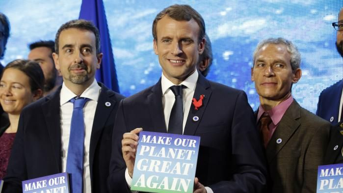 Macron meets Richard Branson and Bill Gates seeking cash for climate change