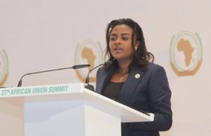 Pan African Youth Union President, Francine Muyumba