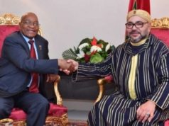 South Africa president Jacob Zuma and King Mohammed IV