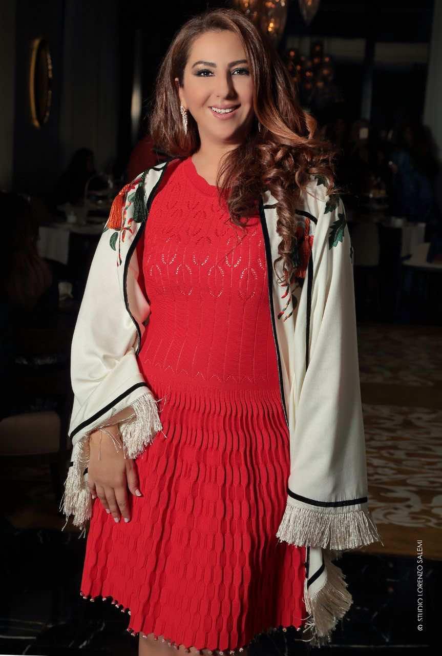 The Moroccan designer Samira Haddouchi