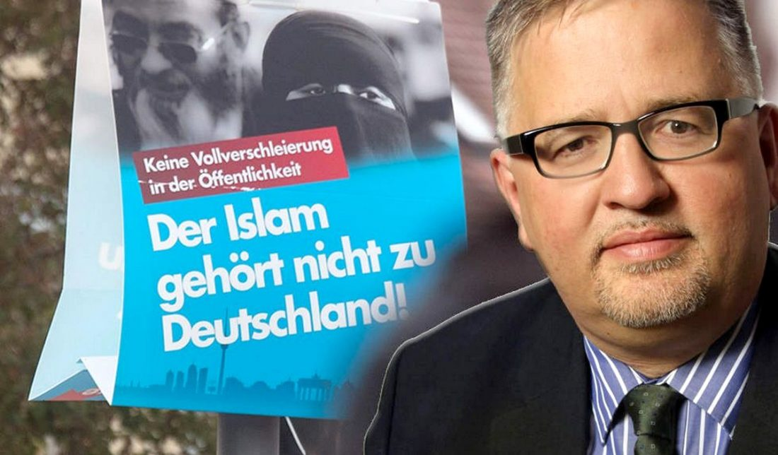 German nationalist politician converts to Islam, quits publish