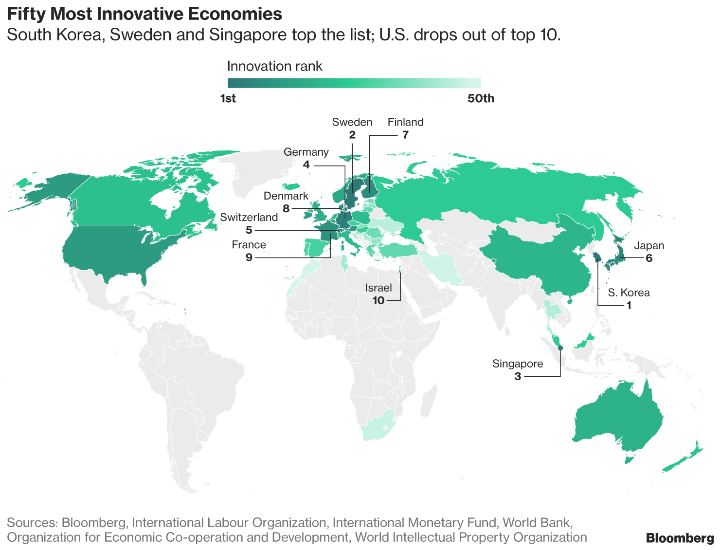 Fifty Most Innovativbe Economies