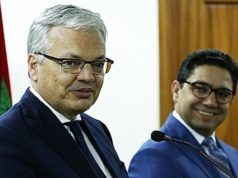 Minister of Foreign Affairs and International Cooperation, Nasser Bourita, with Belgian Deputy Prime Minister and Foreign Affairs Minister Didier Reynders