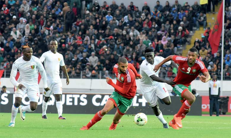 Moroccan Football Team versus Libya during CHAN 2018 in Morocco