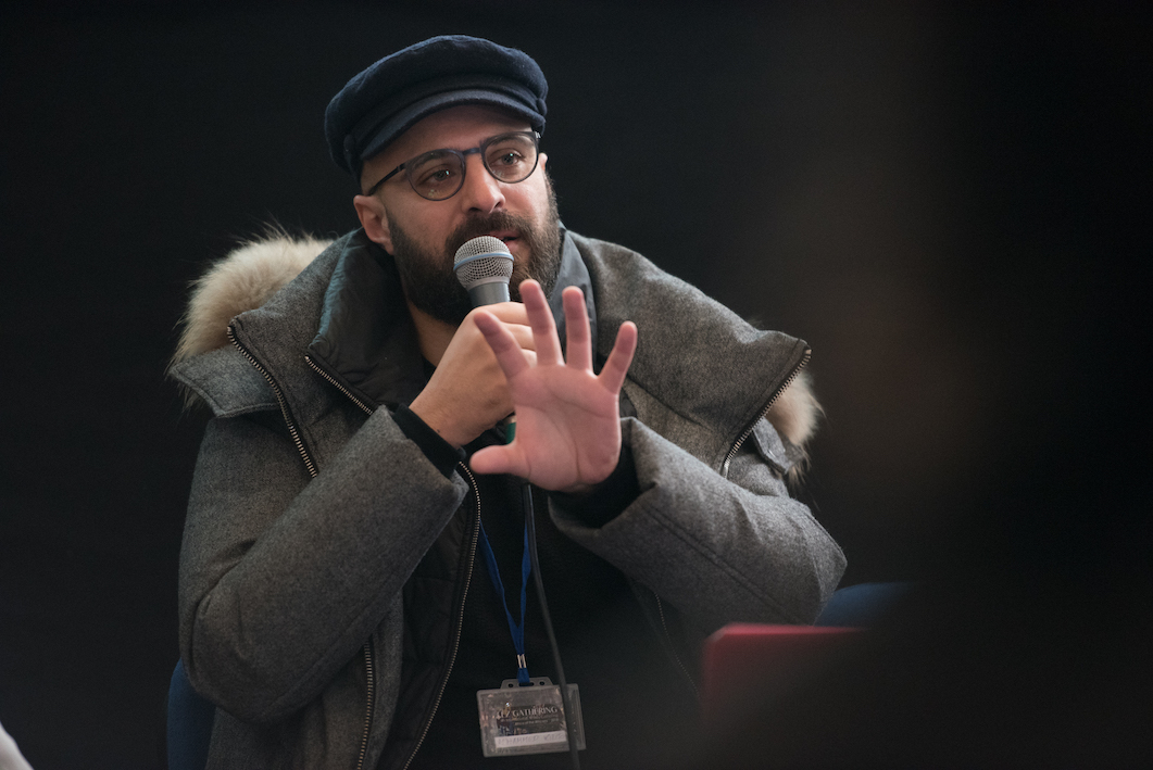 """Moroccan photographer M'hammed Kilito presents prior projects for the """"Photography & Documentary Films in Africa"""" panel Friday morning at Dar Batha."""