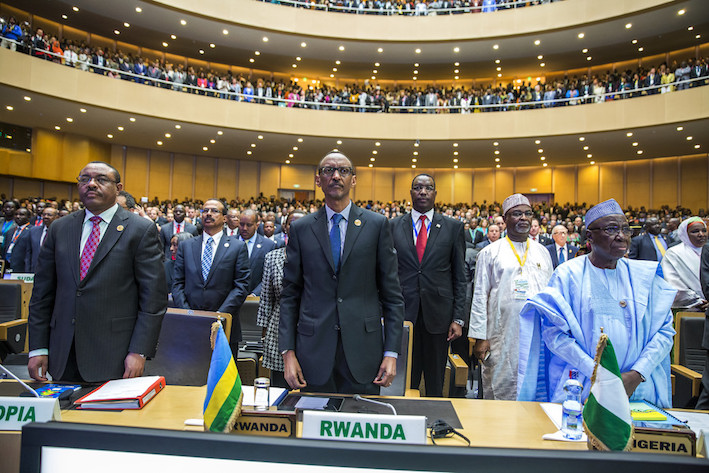 """Résultat de recherche d'images pour """"Paul Kagame, african union, 2018"""""""