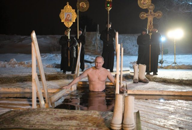Russia's Vladimir Putin Takes Ice Bath in Subzero to Celebrate Orthodox Epiphany