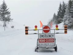 Road closed by snow