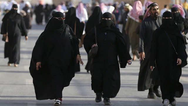 Saudi Women with Abaya