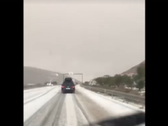 Marrakech-Agadir Highway Covered in Snow