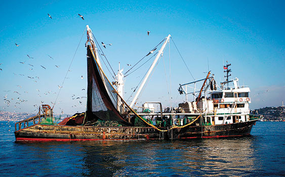 Turkish fishing ship