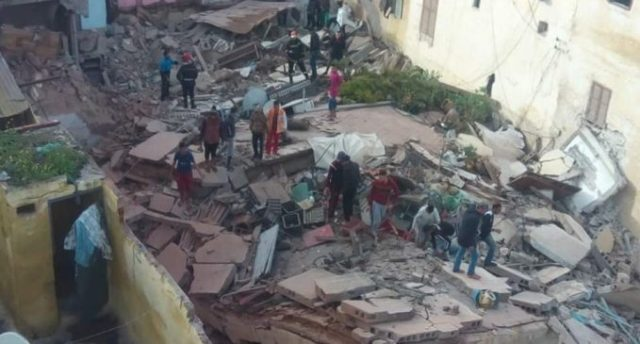 3 Houses, Coffee Shop Collapse in Casablanca
