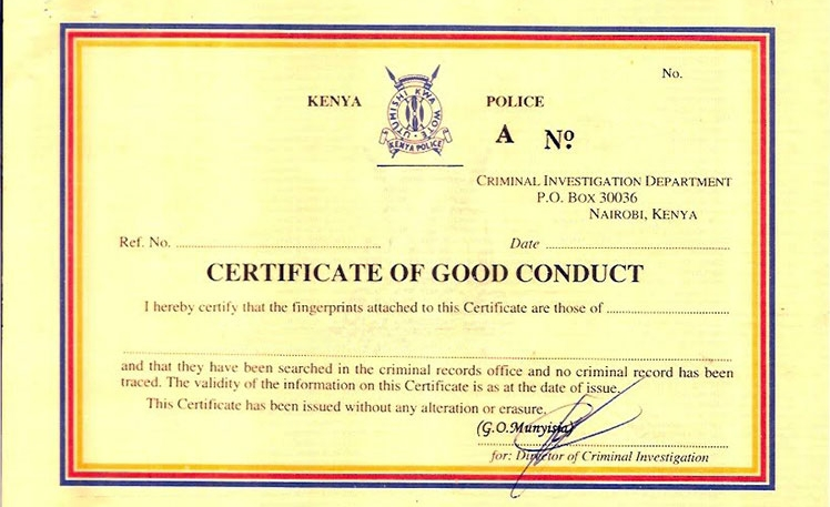 How to apply for ecitizen good conduct certificate in kenya yelopaper Choice Image