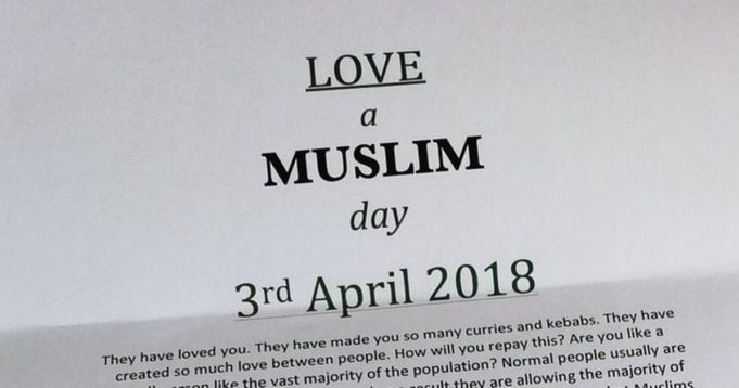 'Love a Muslim Day' Turns Table on 'Punish a Muslim Day' Letter