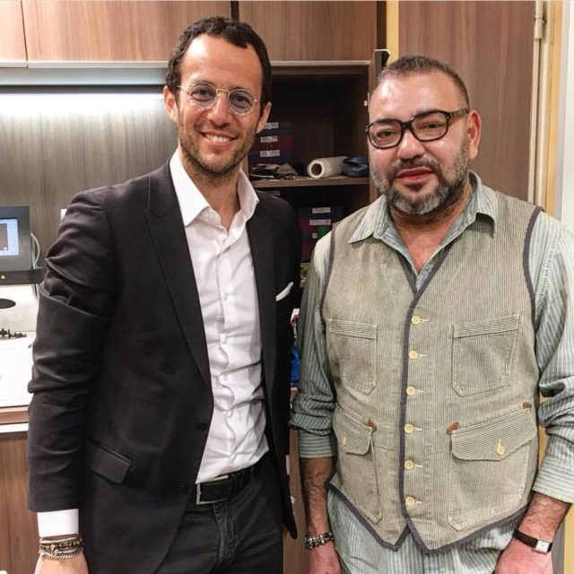 Photo of the Day: King Mohammed VI with Optician in Paris