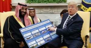 Donald Trump and Mohamed Bin Salman