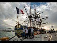 French Frigate Hermione Stops at Tangier Port