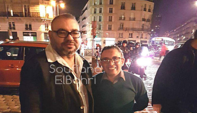 King Mohammed VI Photographed with Moroccan Citizen in Saint-Germain-en-Laye
