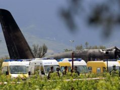 Algerian Military Airplane Overshoots Runway Upon Landing Sunday