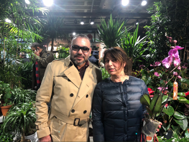 King Mohammed VI Newly Photographed with a Fan in Parisian Garden