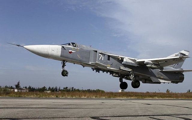 Russian Su-30SM fighter plane crashes into Mediterranean Sea off Syrian coast