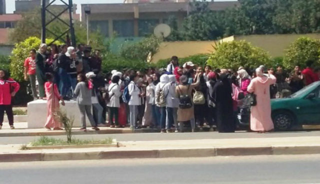 Demonstrations in Khouribga Support Teacher Who Violently Assaulted Student