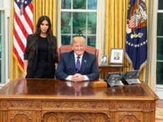 Kim Kardashian meeting Trump