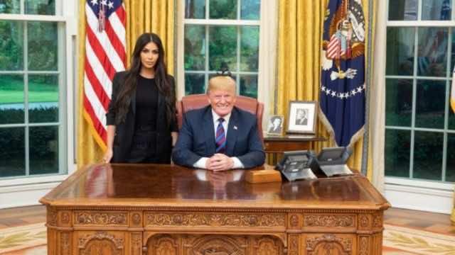 Kim Kardashian meeting Trump