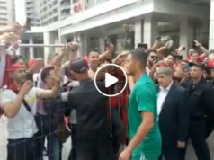 Moroccans Give Bouhaddouz Warm Welcome in Moscow