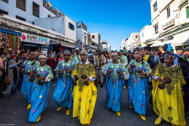 In Pictures, the 1st Day of the Colorful Ganoua Festival in Essaouira