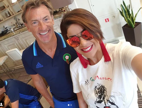 Leila Hadioui Shares a Picture with Hervé Renard, Gets Laughed At