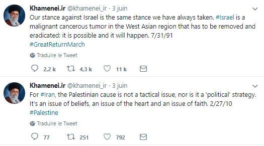 Embassy of Israel Trolls Iranian Khamanei with GIF on Twitter