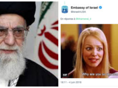 Embassy of Israel Trolls Iranian Khamenei with GIF on Twitter