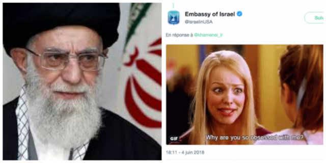 Embassy of Israel Trolls Iranian Khamenei with GIF on Twitter