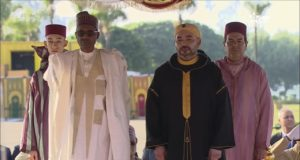 King Mohammed VI Receives Nigerian President at Rabat-Sale Airport