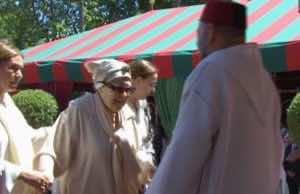 Daughter of Abdelkarim ElKhattabi Attends Throne Day Ceremony