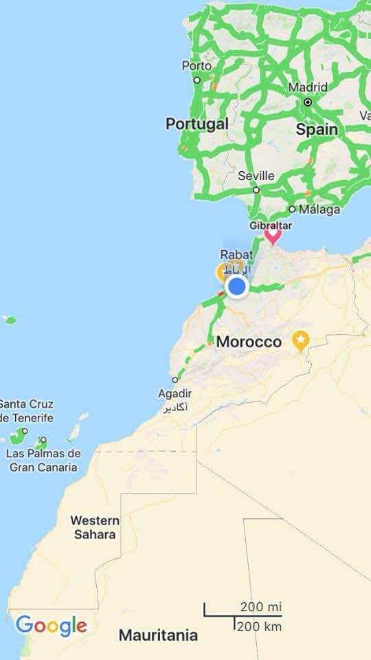 Google Map Removes Line Separating Western Sahara for