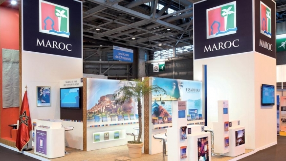 A Morocco stand in a tourism event