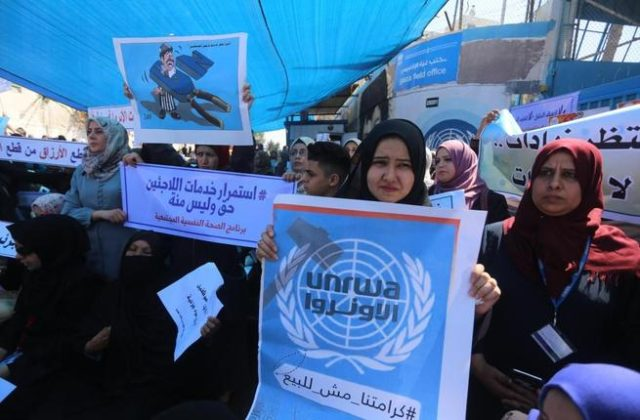 UNRWA Job Cuts Met with Protest in Gaza